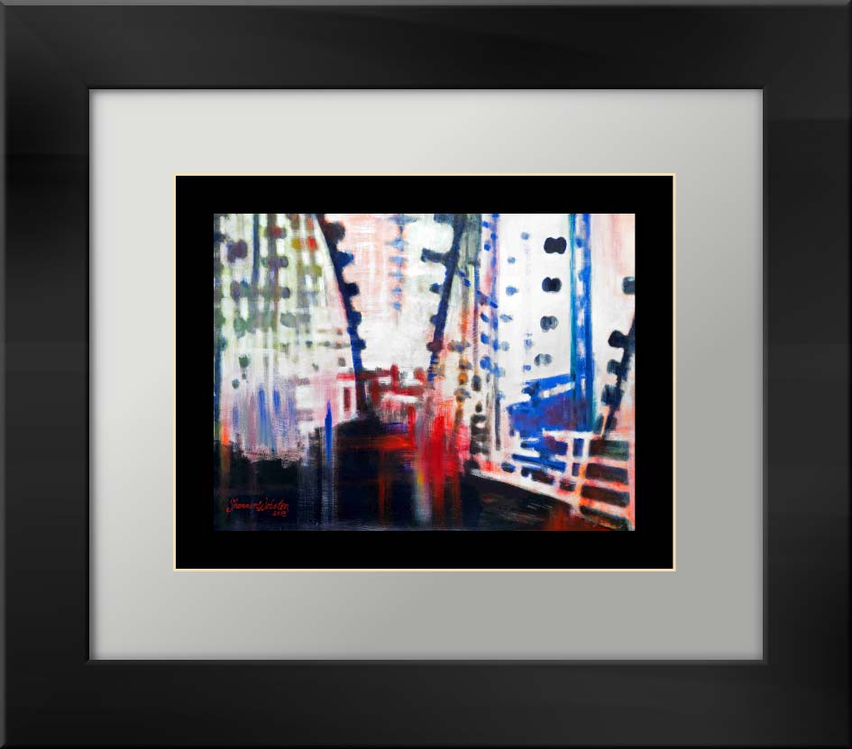 Falling Bridge matted print