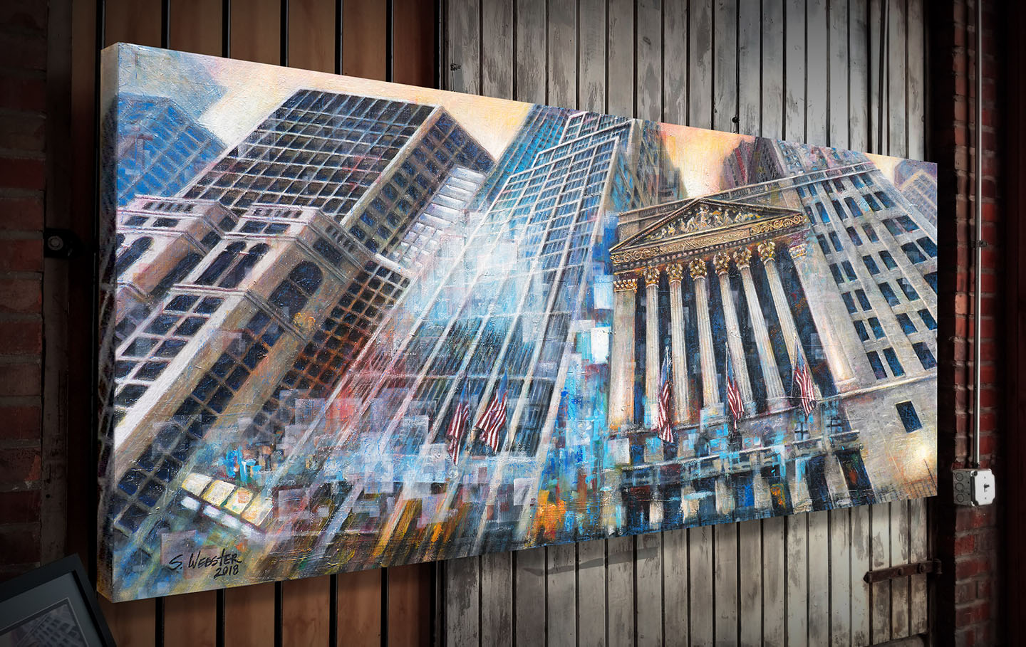 Wall St. Vertigo New York Stock Exchange painting