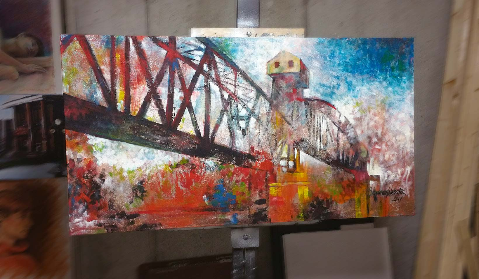Original Crossing Over painting MKT Railroad Bridge