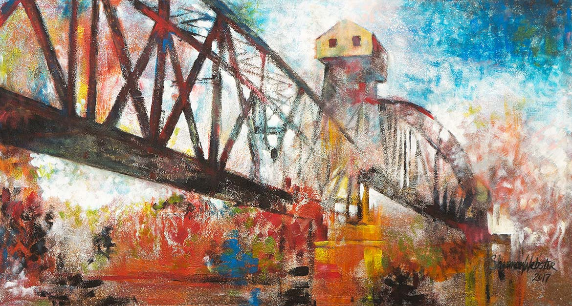 Katy Railroad Bridge painting Boonville, Missouri